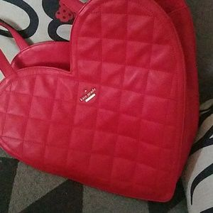 Kate spade red heart  quilted tote